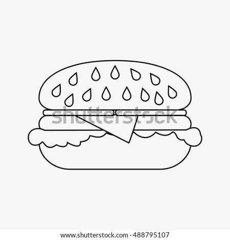 Chalk Drawn Fast Food Menu On Stock Vector 365209130