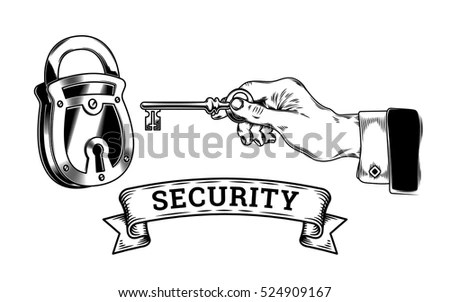 Vector Illustration Two Revolvers Horse Shoe Stock Vector