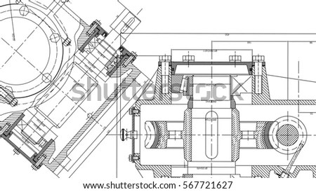Wireframe Industrial Equipment Oil Gas Pump Stock Vector