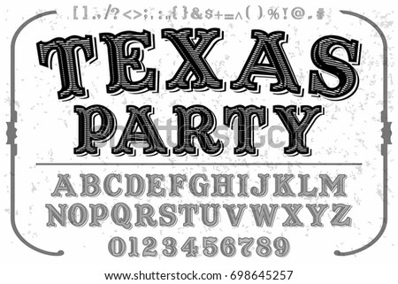 Hand Drawn 3d Font Vector Alphabet Stock Vector 111385109
