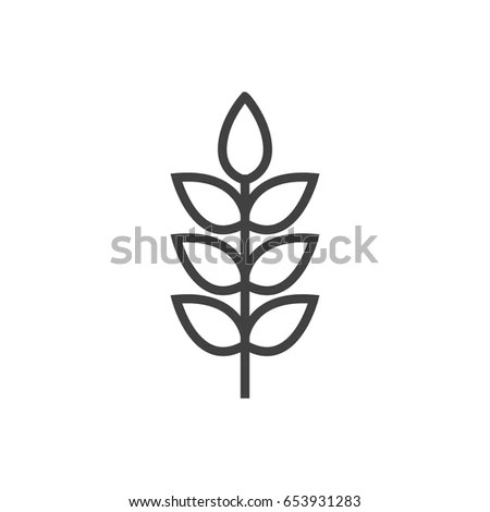 Barley Icon Isolated On White Background Stock Vector