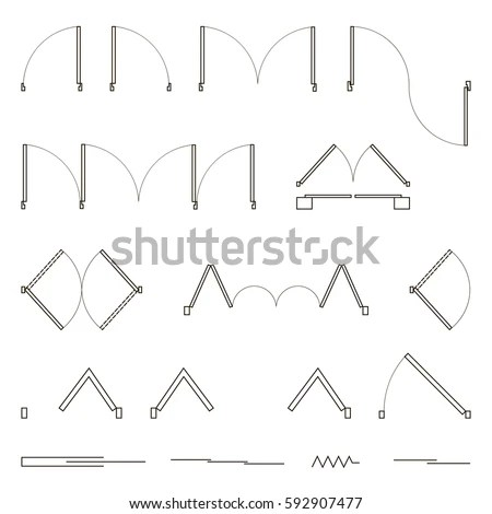 Set Simple Vector Icons Design Elements Stock Vector