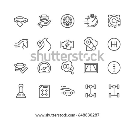 Icon Set Related Sport Supplements Effects Stock Vector