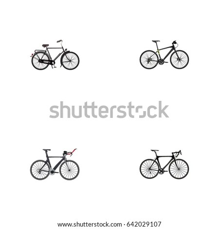 Stylized Bicycle Vector Illustration Stock Vector
