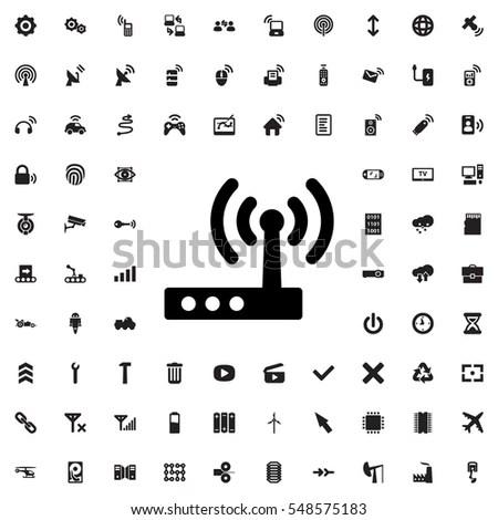 Simple Internet Things Icon Set Symbols Stock Vector