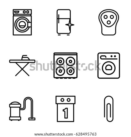Set Laundry Icons Clean Dirty Shirts Stock Vector