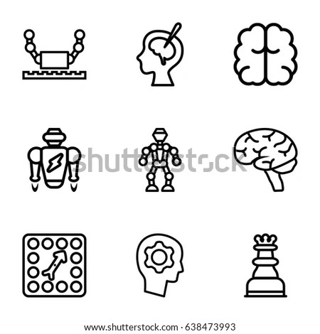 Vector Graphic Logistic Delivery Icons Set Stock Vector