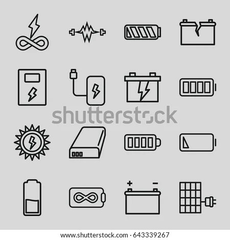 Electric Motor Vector Icons Stock Vector 410084749