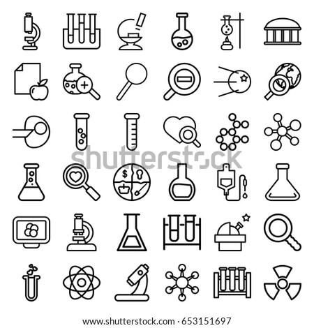 Set Vector Line Icons Sign Symbols Stock Vector 552171643