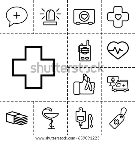 Cross Icons Set Set 16 Cross Stock Vector 592481261