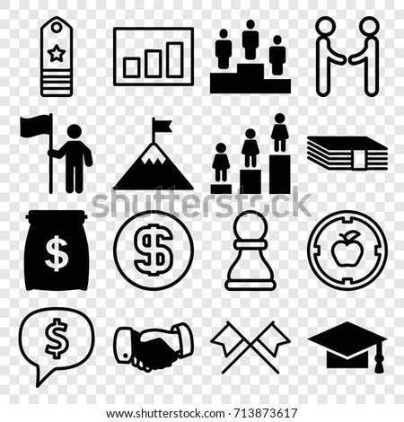 Studying University Icon Set Stock Vector 112181399