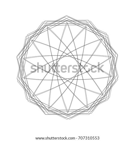 Metatrons Cube Platonic Solids Flower Life Stock Vector