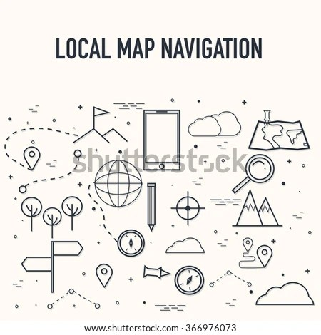 City Map 3d Navigation Pointer On Stock Vector 260529278