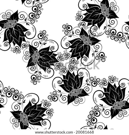 Abstract Lace Ribbon Vertical Seamless Pattern Stock