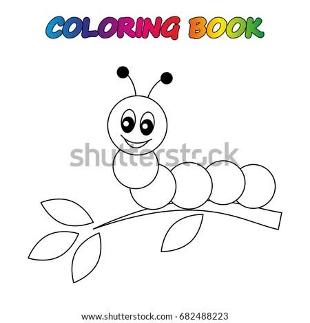 Happy Birthday Card Ant Holding Balloon Stock Vector