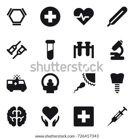 Collection Vector Medical Symbols Stock Vector 68419942