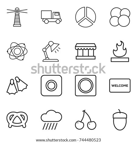 Restaurant Square Icon Set Illustrations Vector Stock