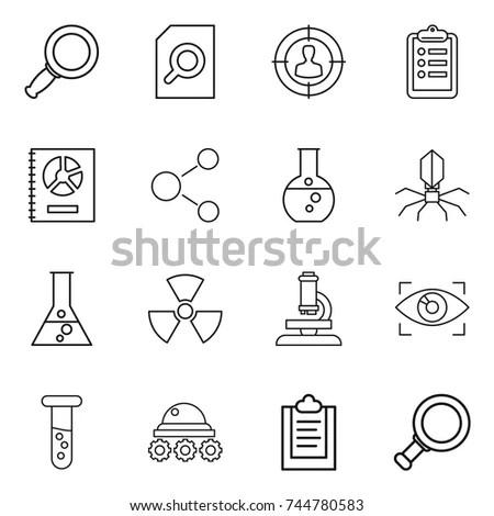 Science Icons Mono Vector Symbols Stock Vector 170028638