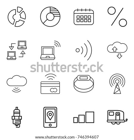 Network Cloud Computing Icons Stock Vector 137684684