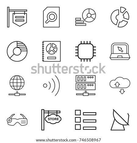 Network Icon Set Circle Buttons Stock Vector 581167492