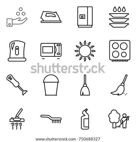 Hygiene Icons Set Compliance Health Purity Stock Vector