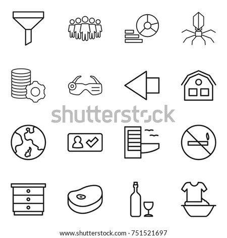 Peace Human Rights Icon Set Flat Stock Vector 726720082