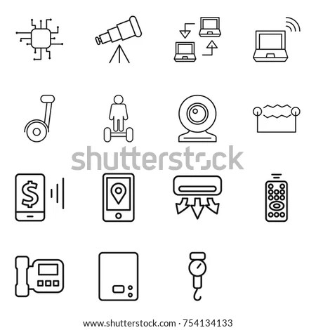 Artificial Intelligence Vector Line Icons Stock Vector