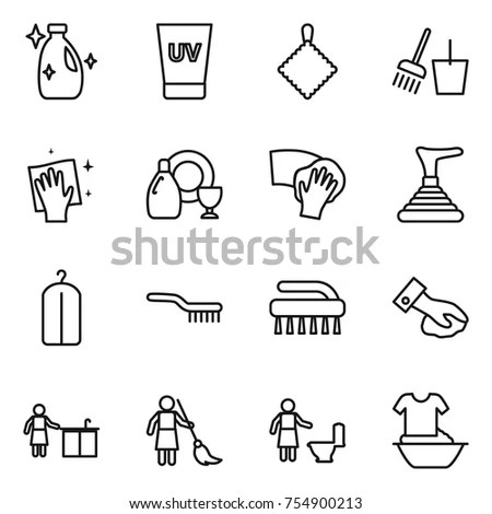 Personal Protective Equipment Line Icons Gas Stock Vector