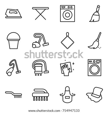 Collection Drawing Tools Cleaning Products Household Stock