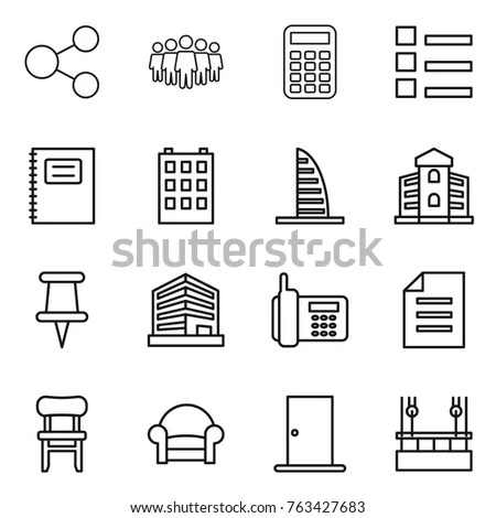 Set Line Icons Insulation Stock Vector 537955114