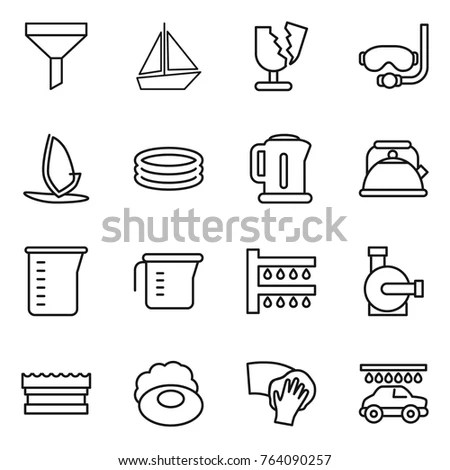 Silhouette Line Flat Vector Military Icon Stock Vector