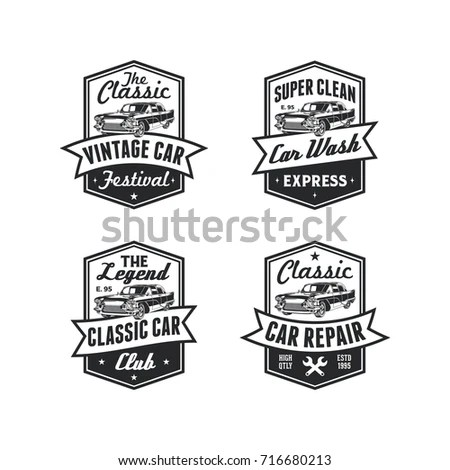 Old Style Vintage Classic Car Vector Stock Vector
