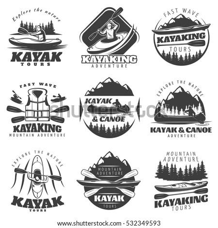 Mountain Icons Set Mountain Climbing Climber Stock Vector