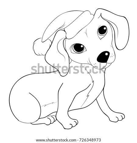 Bulldog Santa Dog New Year Coloring Stock Vector 726345103