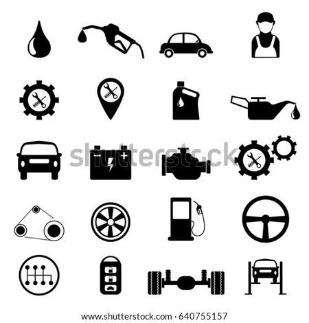 Man Using Smartphone On Engine Background Stock Photo