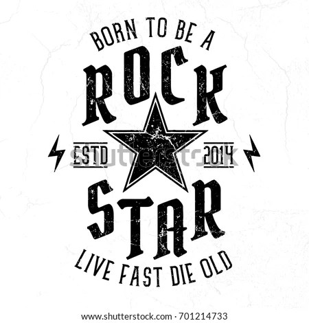 Rock Festival Poster Rock Roll Sign Stock Vector 566472385