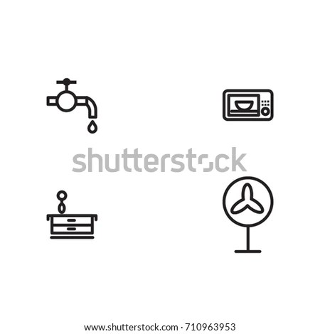 Anemometer Wind Meter Icon Illustration Design Stock