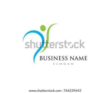 Health Woman Vector Logo Template Concept Stock Vector