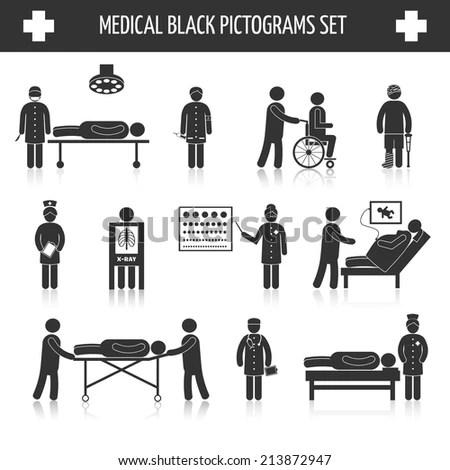 Hospital Clinic Medical Healthcare Doctor Nurse Stock