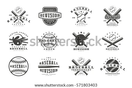 College Rugby Team Emblems Retro Vintage Stock Vector