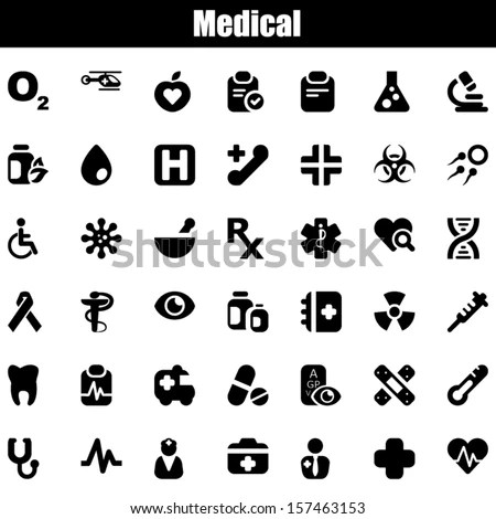 Trendy Biology Science Symbols Simple Icon Stock Vector