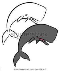 cartoon angry sharp whale sperm shark menacing looking eyes teeth vector mopar drawn hand everythig seen shutterstock