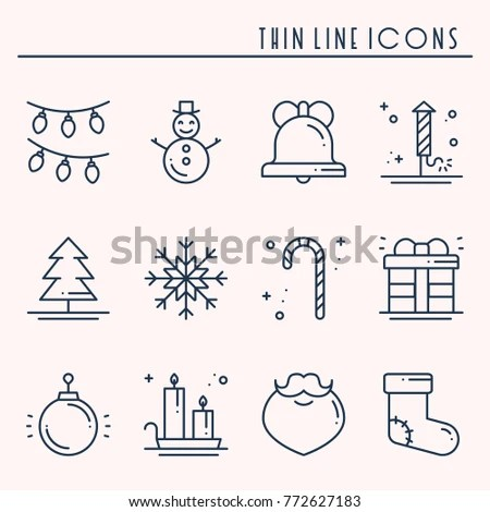 Merry Christmas New Year Wishes Labels Stock Vector