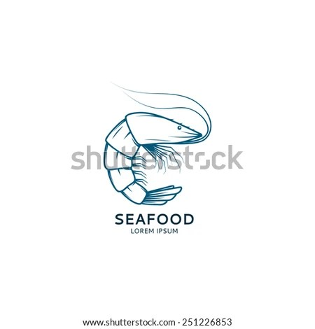 Template Logo Fish Form Round Creative Stock Vector