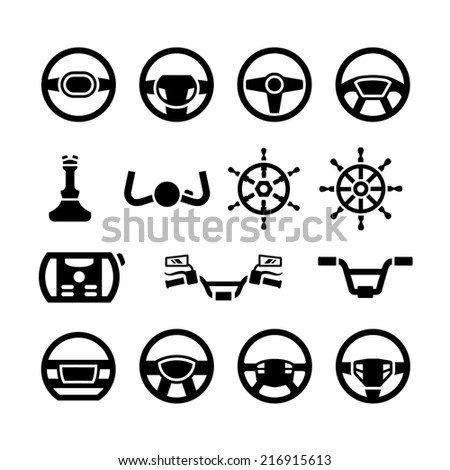 Car Detail Silhouettes Set Stock Vector 66245596