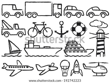 Cartoon Transport Coloring Book Stock Vector 120000088