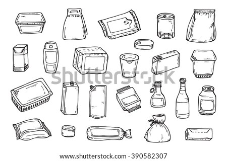 Product Packaging Vector Set Mock Template Stock Vector