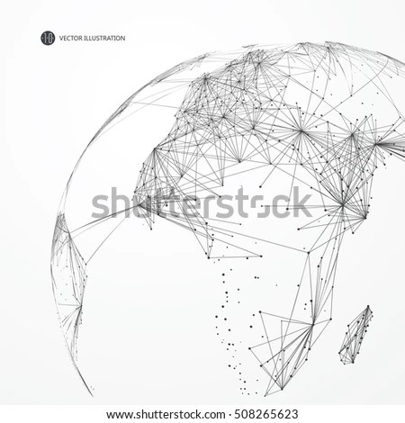 Running Mannetwork Connection Turned Into Vector Stock
