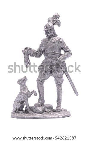 Knight Middle Ages Vintage Engraved Illustration Stock