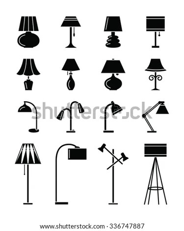 Interior Work Lamp Types Icons Stock Vector 532824772